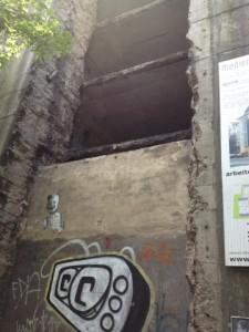 offener Bunker